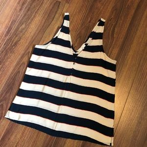 Joie | Striped Sleeveless Blouse